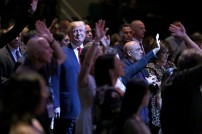 Donald Trump Visits Church In Las Vegas