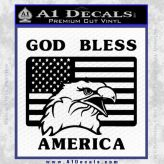 God-Bless-America-Decal-Sticker-Eagle-Flag-Black-Vinyl